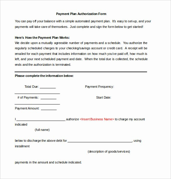 Payment Plan Letter Template Luxury Payment Plan Agreement Template 12 Free Word Pdf