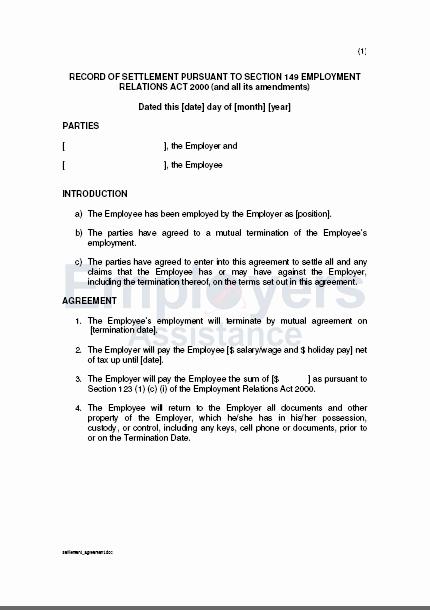 Payment Settlement Agreement Awesome Settlement Agreement
