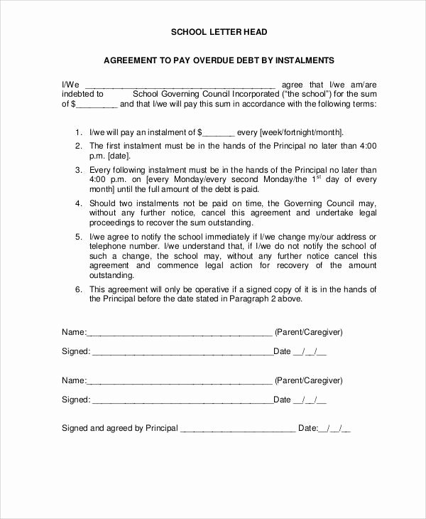 Payment Settlement Agreement Beautiful 38 Agreement Letter Examples Word Pdf
