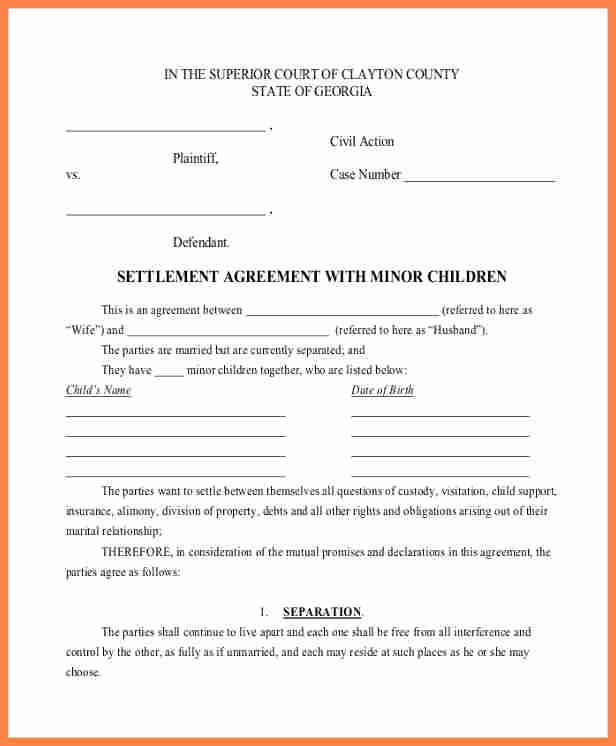Payment Settlement Agreement Beautiful 7 Child Support Payment Agreement Template