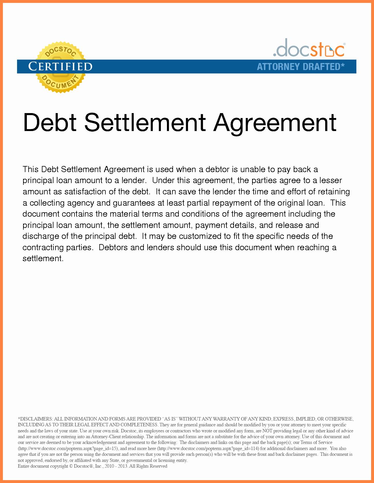 Payment Settlement Agreement Fresh 4 Irs Debt Settlement
