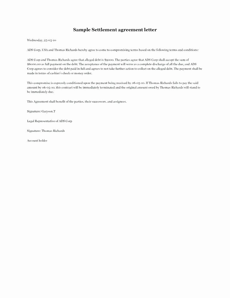 Payment Settlement Agreement Inspirational 20 Credit Terms Letter