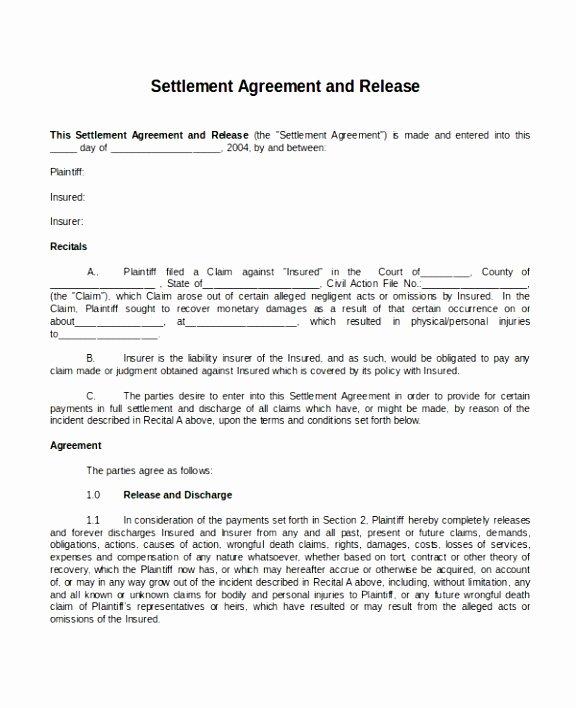 Payment Settlement Agreement Lovely 10 Payment Settlement Agreement Template Wuega