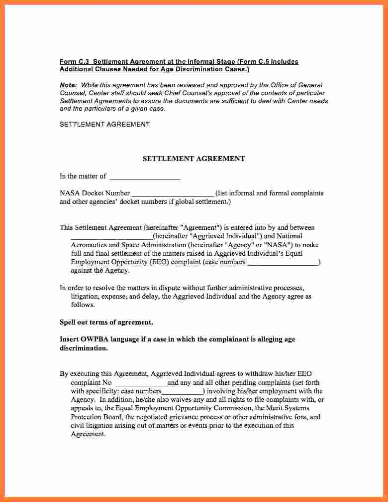 Payment Settlement Agreement Unique 10 Settlement Agreement
