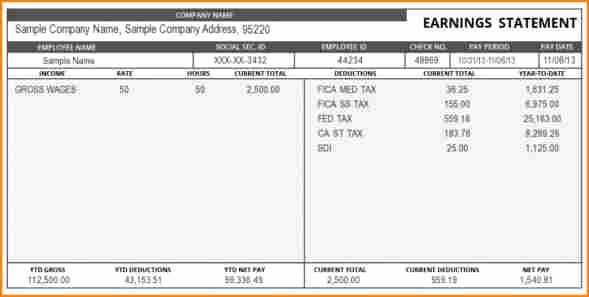 Payoff Statement Template Word Elegant 8 Pay Stub Template Word Document