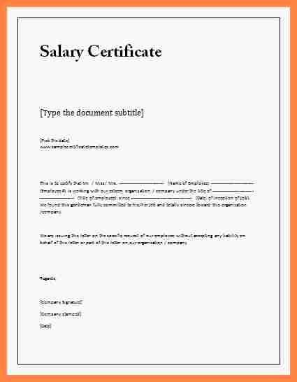 Payoff Statement Template Word Lovely 8 Salary Certificate Letter format Word