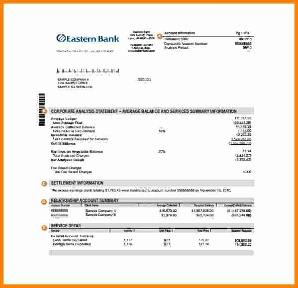 Payoff Statement Template Word Lovely 9 Bank Statement Example Pdf