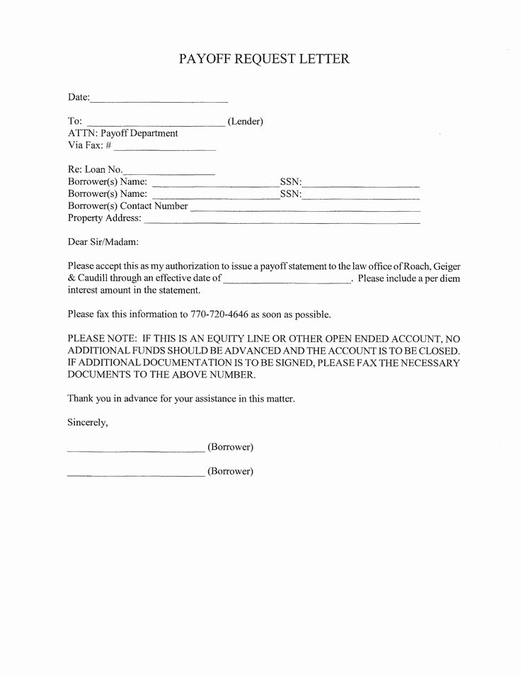 Payoff Statement Template Word Lovely Statement Request Letter Example Letter Requesting A