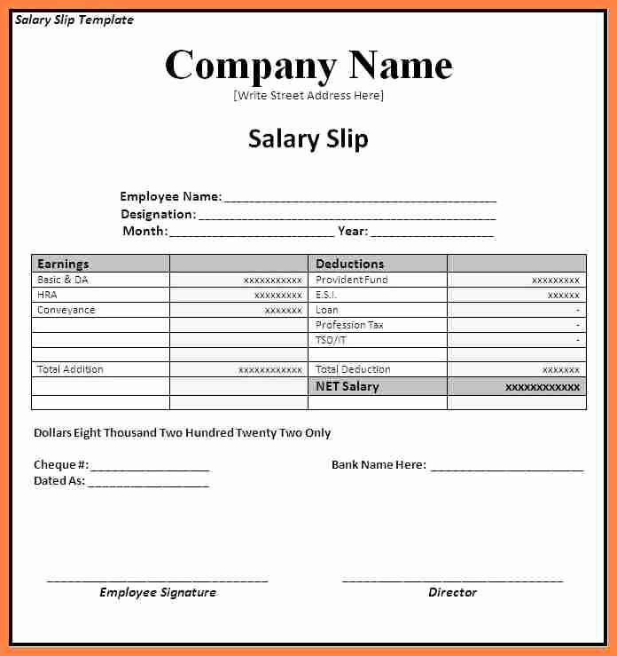 Payoff Statement Template Word New 6 Salary Statement format