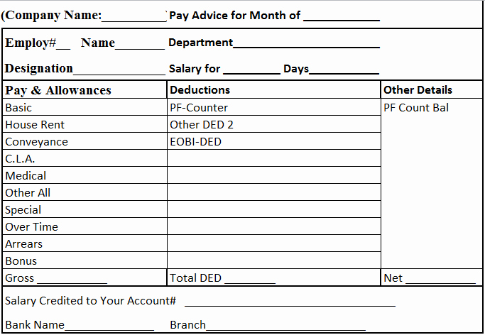 Payoff Statement Template Word New Free Download Salary Slip In Excel and Word format