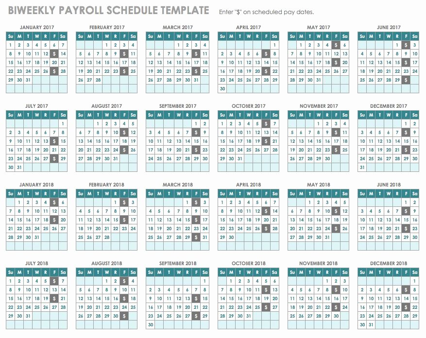 Payroll Calendar 2019 Template Beautiful 15 Free Payroll Templates