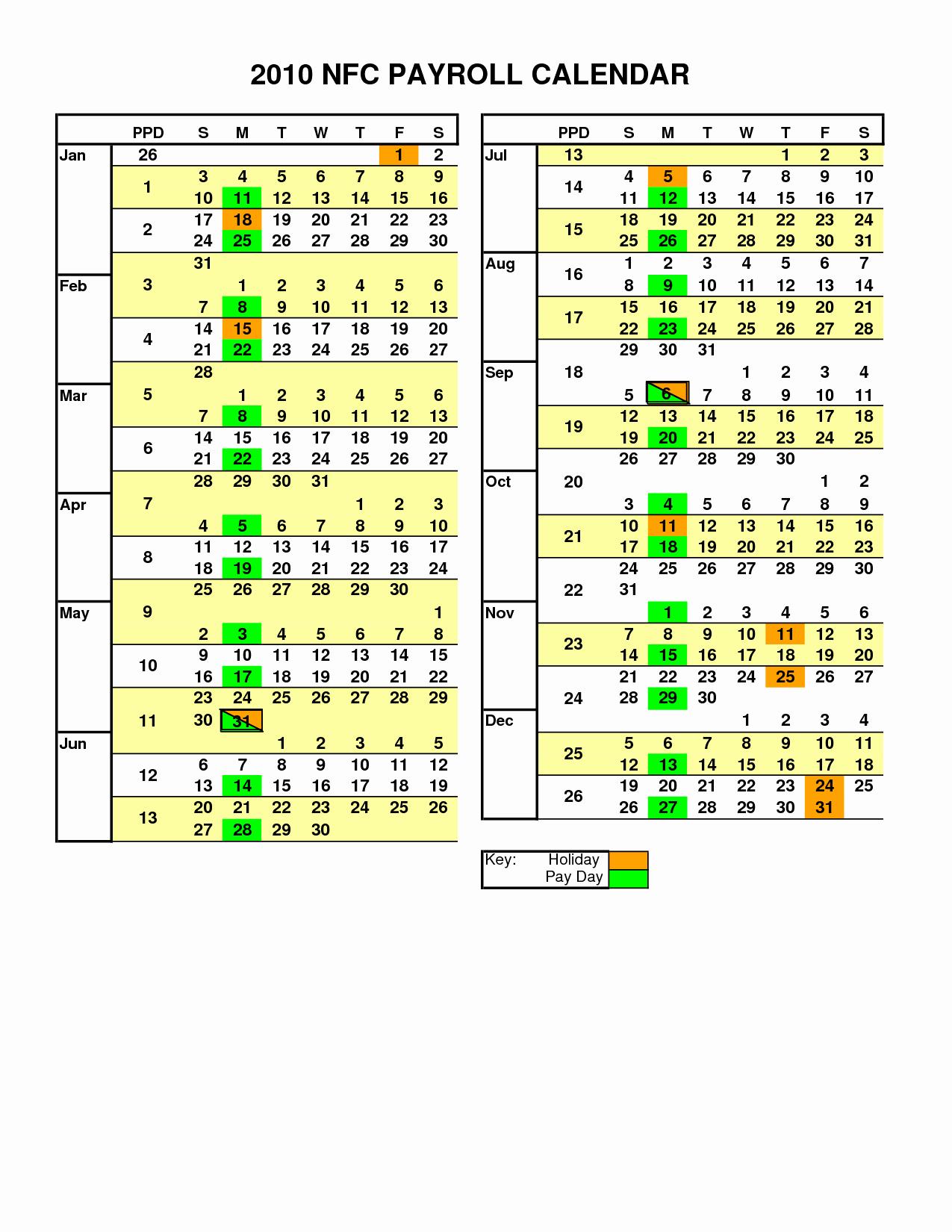 Payroll Calendar 2019 Template Luxury 2018 Adp Payroll Calendar Pdf