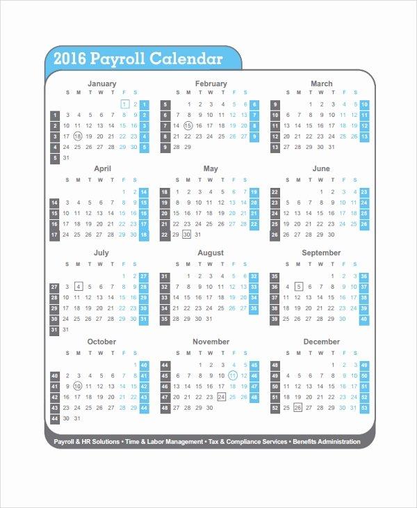 Payroll Calendar 2019 Template New 10 Payroll Calendar Templates