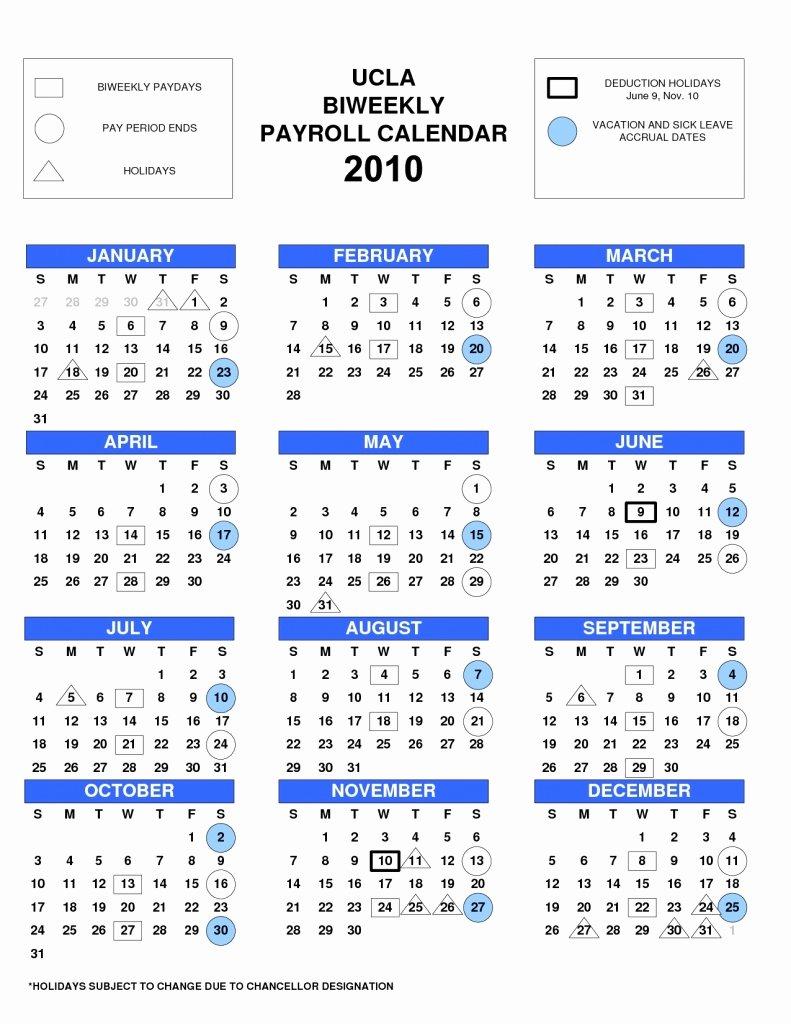 Payroll Calendar Template 2019 Inspirational Adp Bi Weekly Payroll Calendar 2018