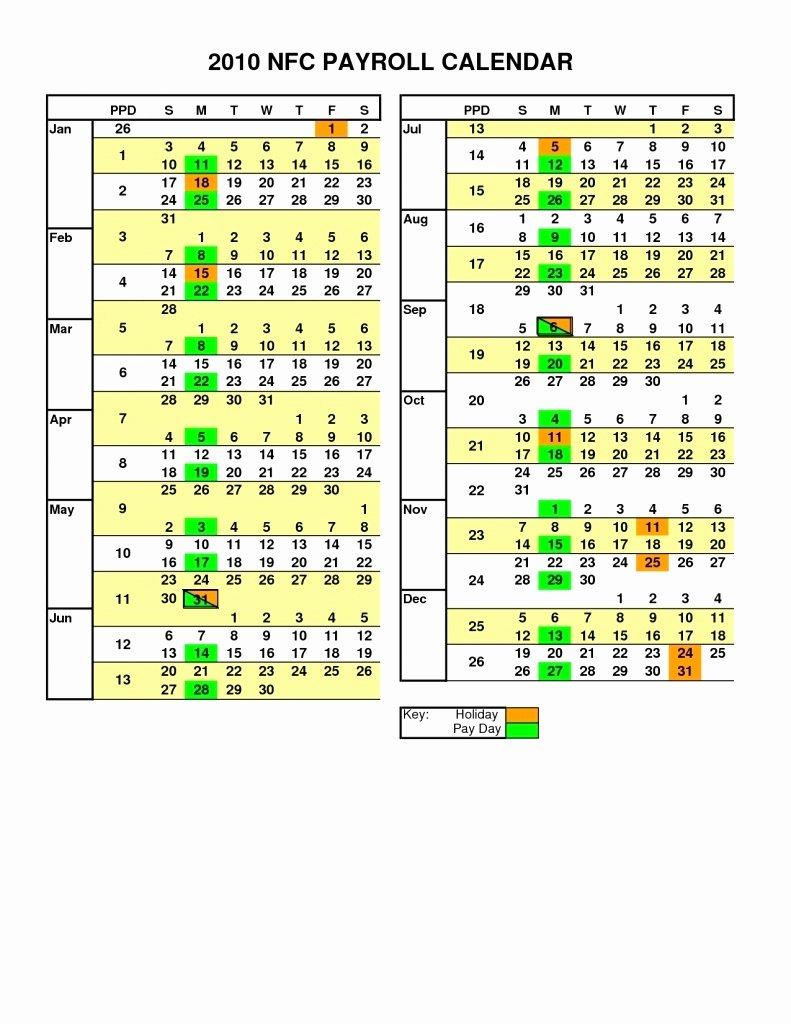 Payroll Calendar Template 2019 Lovely Adp Biweekly Payroll Calendar