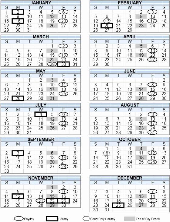 Payroll Calendar Template 2019 New Print 35 Illustration Gsa Calendar 2019