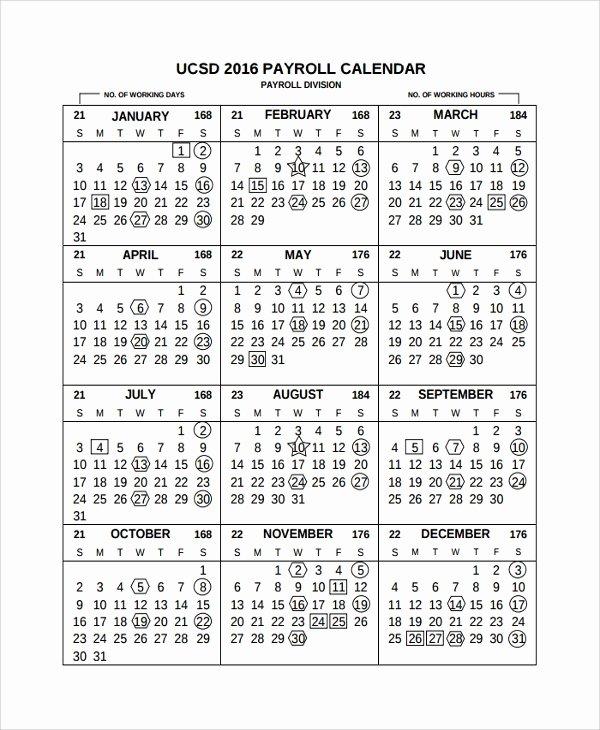 Payroll Calendar Template 2019 Unique 10 Payroll Calendar Templates