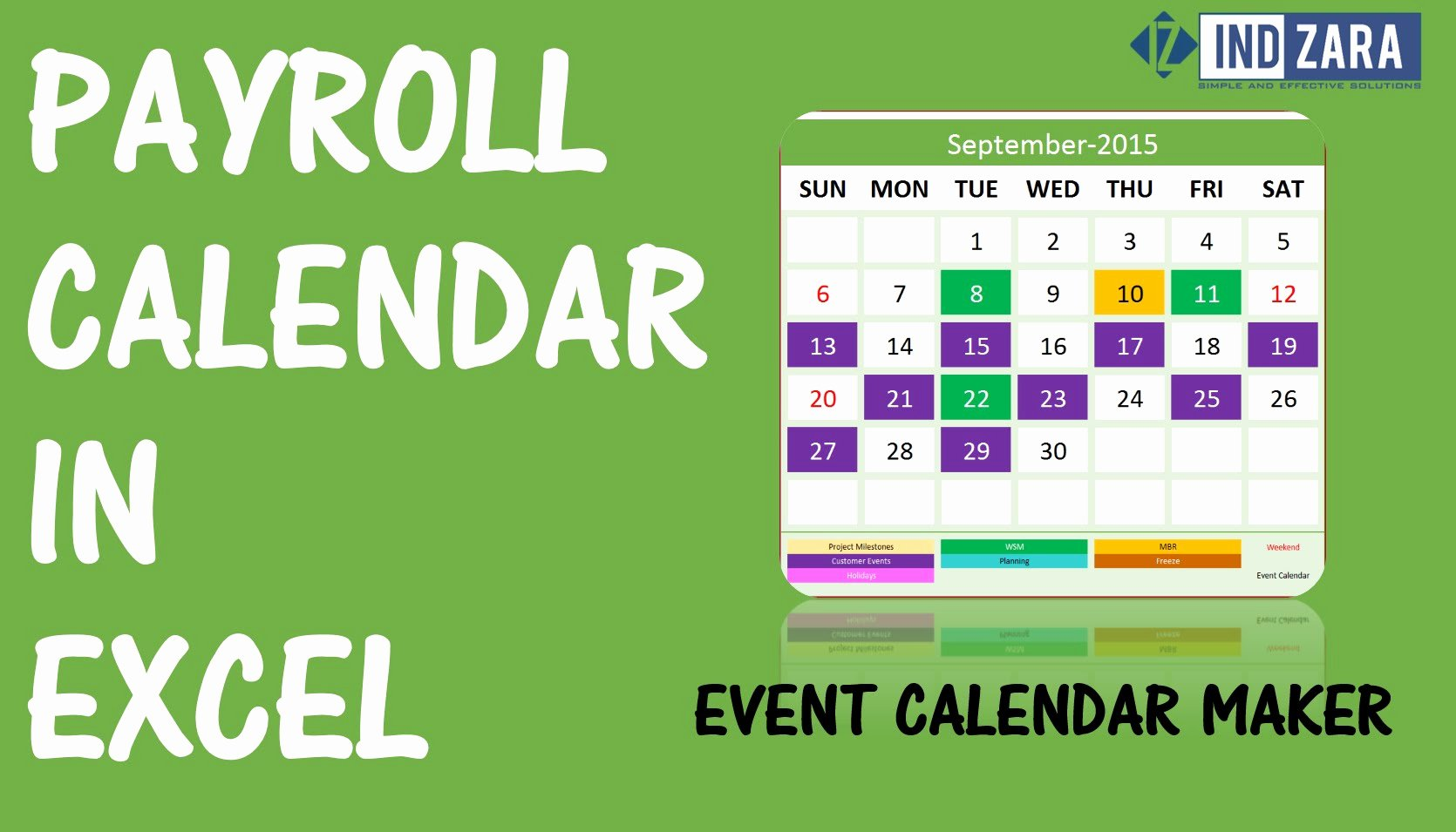 Payroll Calendar Template Awesome Create A Payroll Calendar