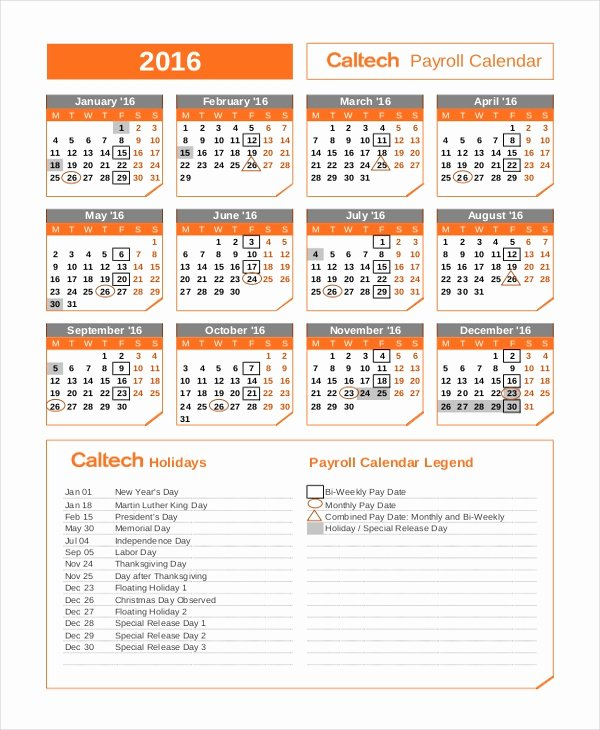 Payroll Calendar Template New Payroll Calendar Template 10 Free Excel Pdf Document