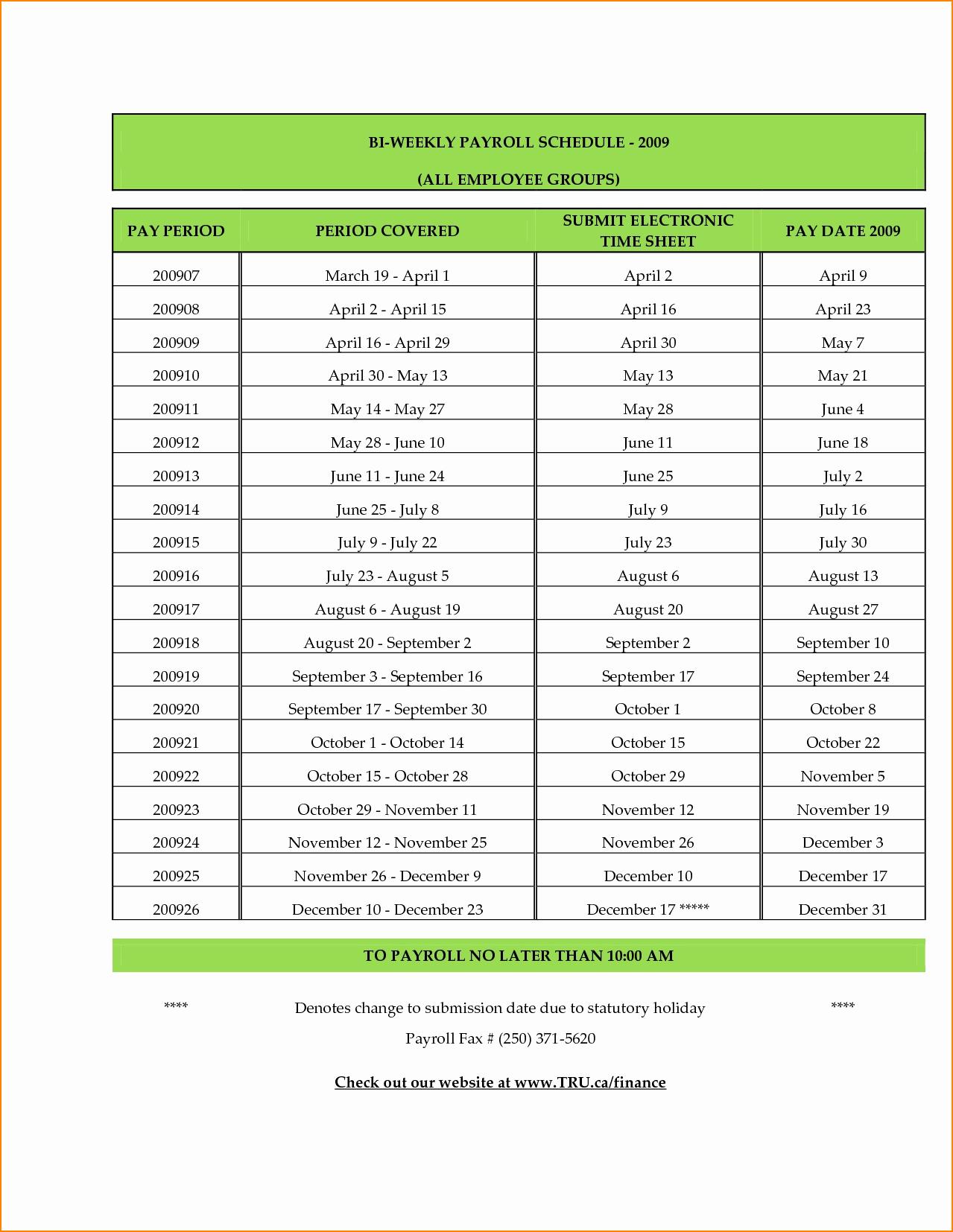 Payroll Calendar Template Unique 5 Biweekly Payroll Calendar Template