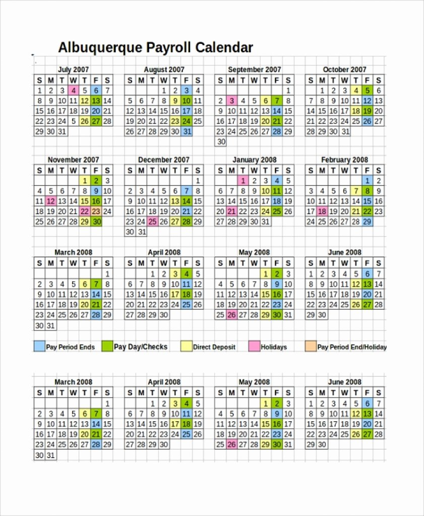 Payroll Calendar Template Unique Doj Payroll Calendar 2018