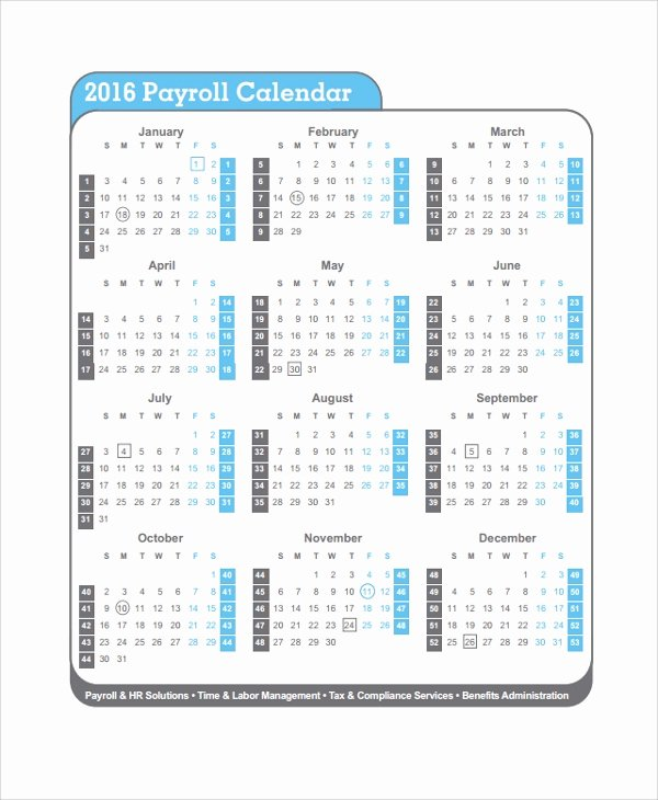 Payroll Calendar Templates Best Of 10 Payroll Calendar Templates