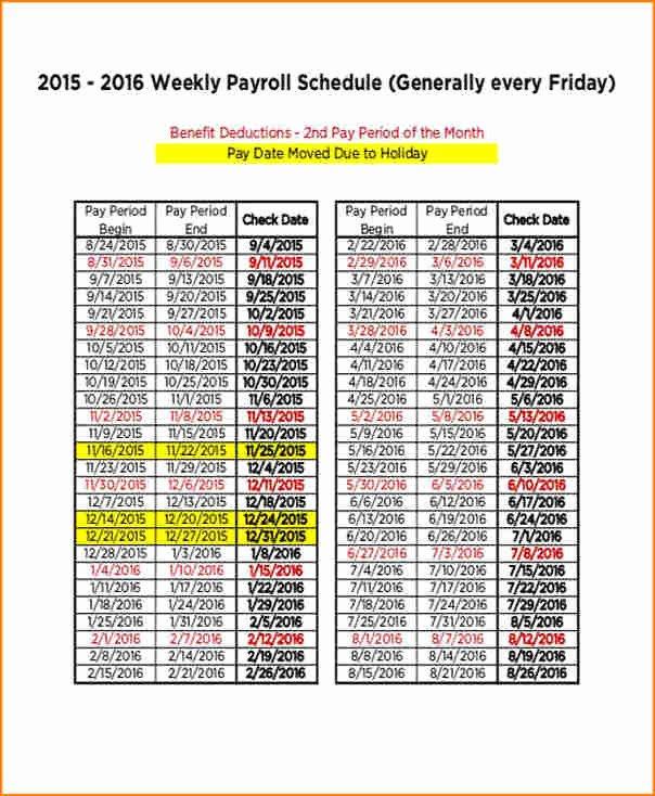 Payroll Calendar Templates Elegant 9 Payroll Calendar Template