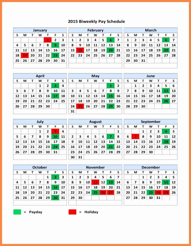 Payroll Calendar Templates Fresh 14 Bi Weekly Payroll Calendar