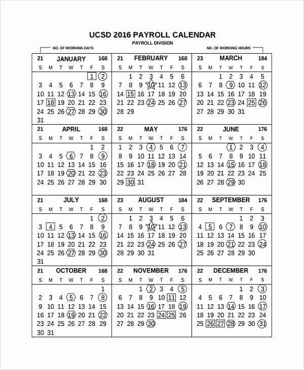 Payroll Calendar Templates Inspirational 10 Payroll Calendar Templates