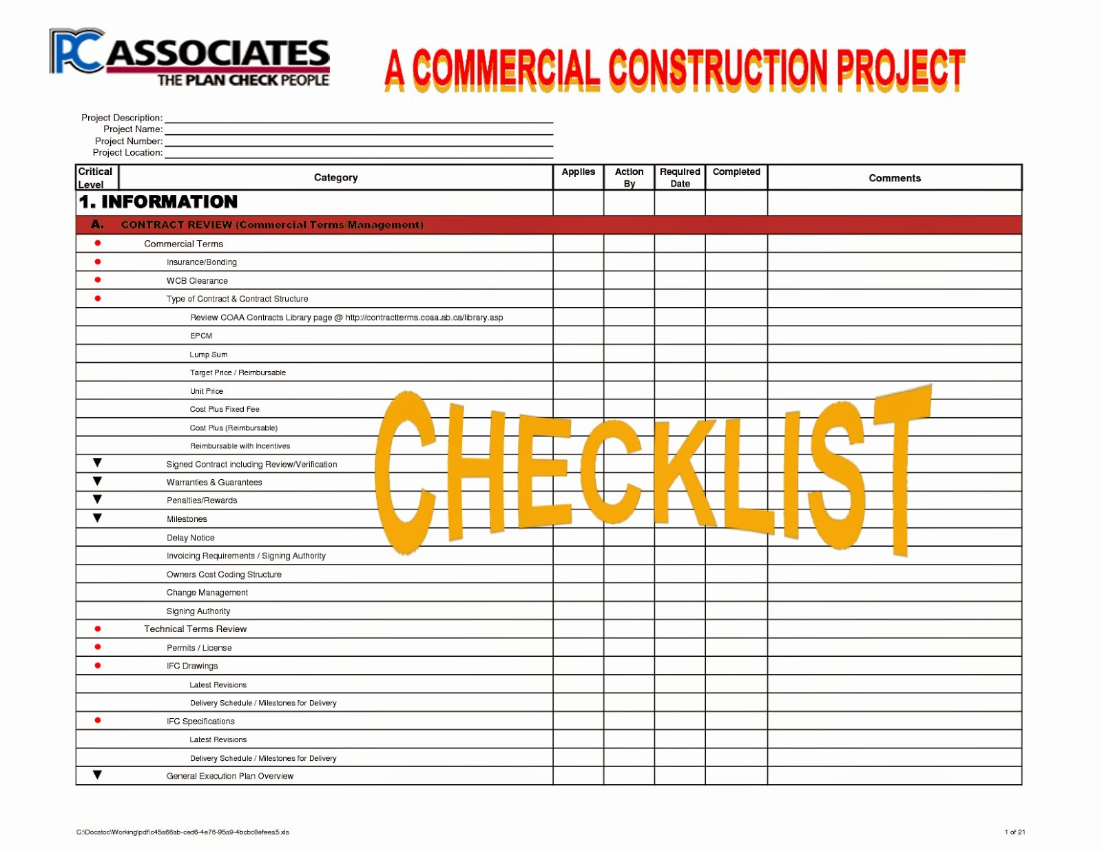 Pc Build Checklist Template Elegant Construction Processes Review