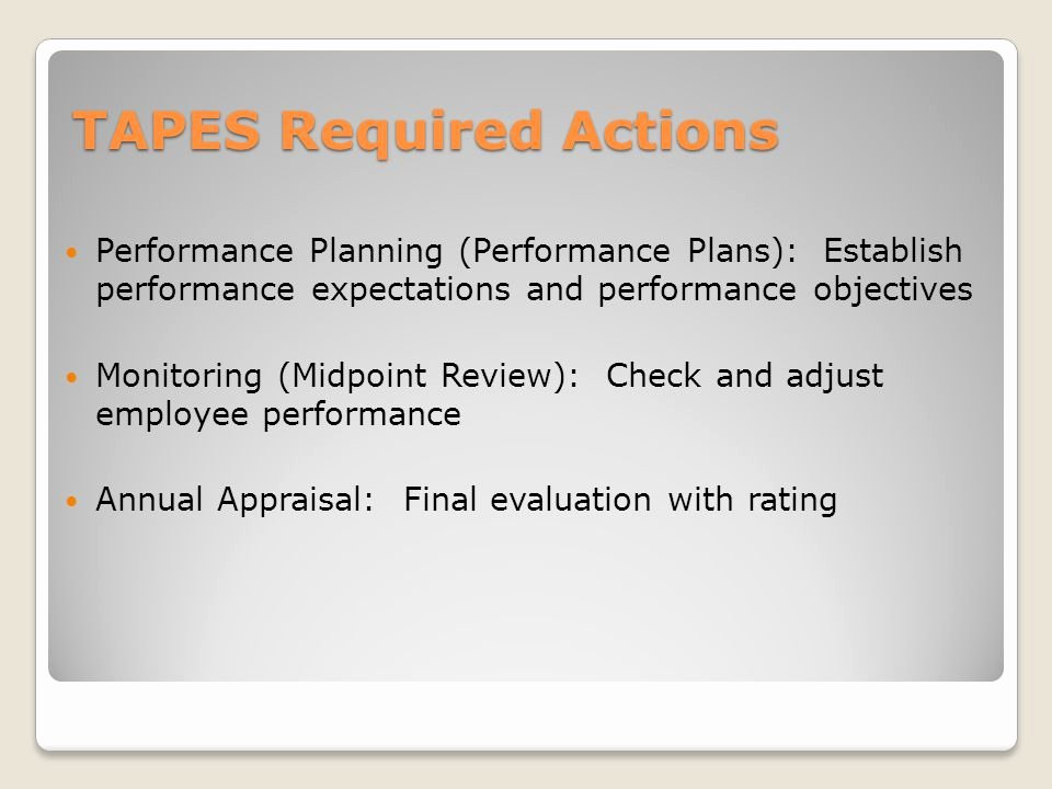 Performance Goals and Expectations Examples Army Fresh total Army Performance Evaluation System Tapes Ppt