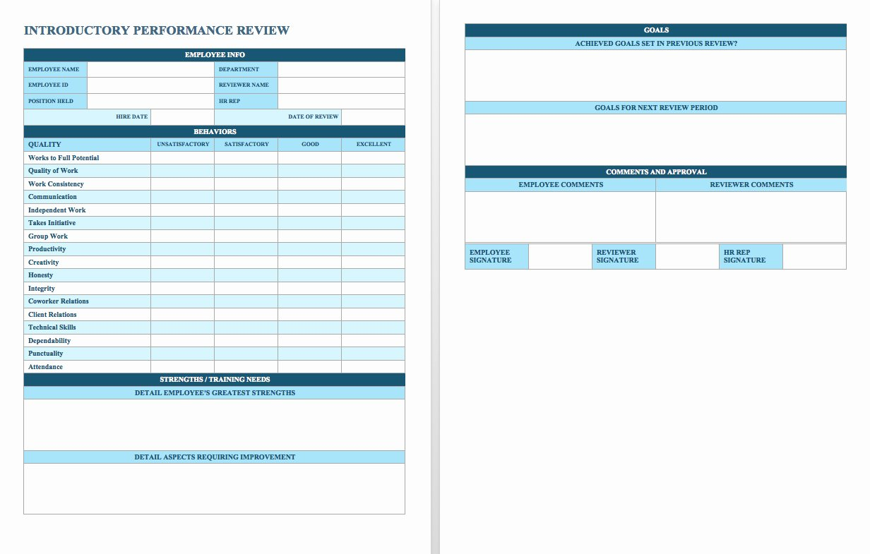Performance Summary Example Inspirational Free Employee Performance Review Templates Smartsheet