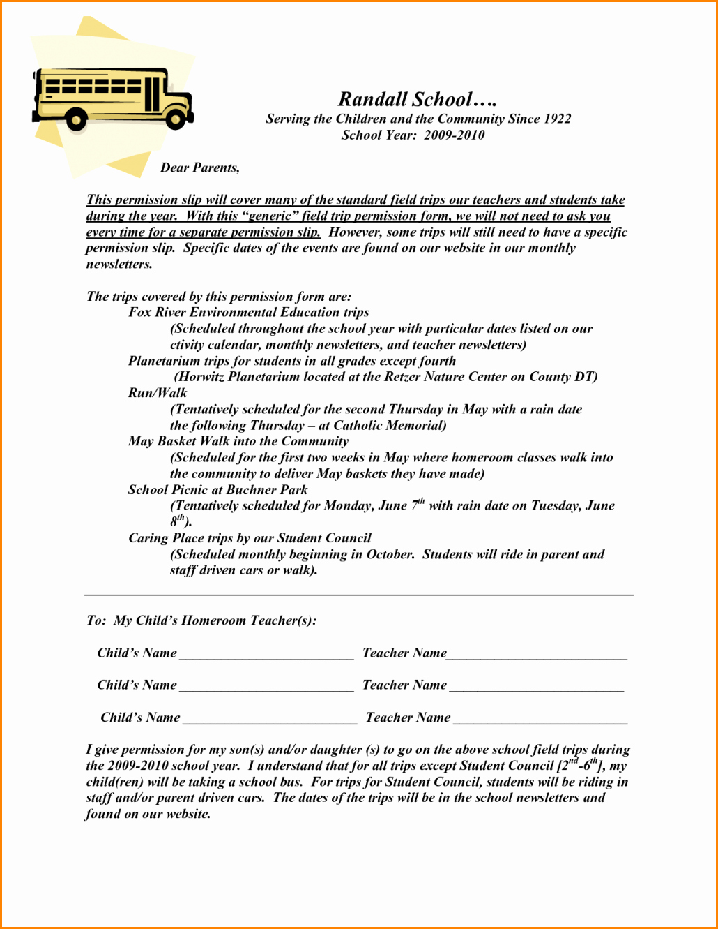 Permission Slip Lds Awesome 5 Field Trip Permission Slip Template