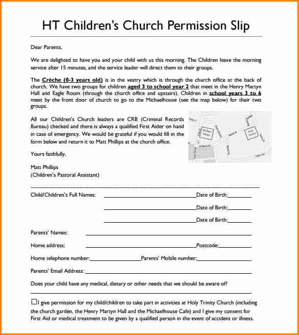 Permission Slips Lds Beautiful 6 Church Permission Slip