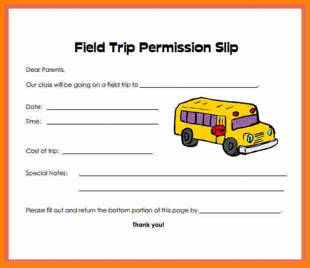 Permission Slips Lds Fresh 11 Fieldtrip Permission Slip