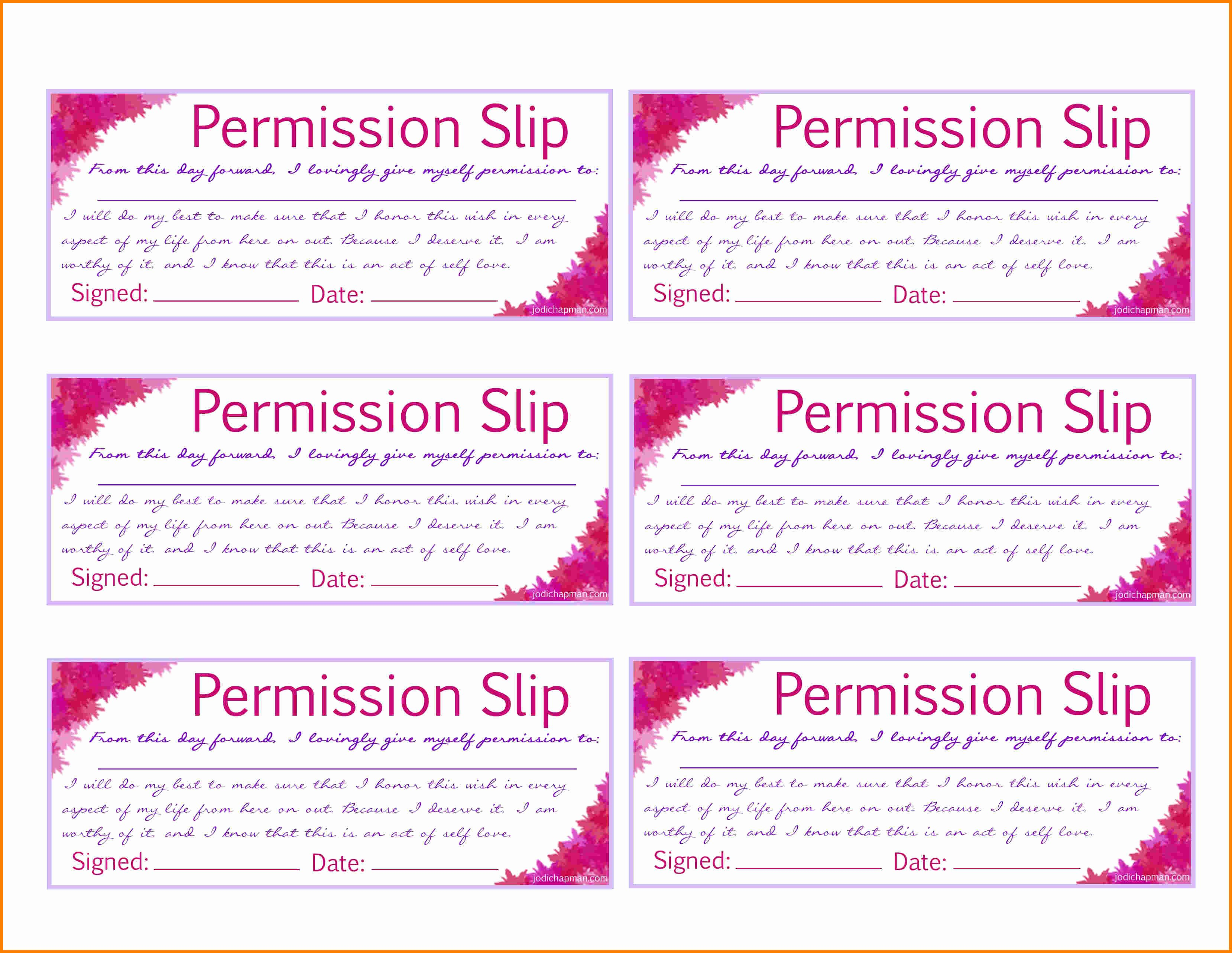 Permission Slips Lds Luxury 8 Printable Permission Slips