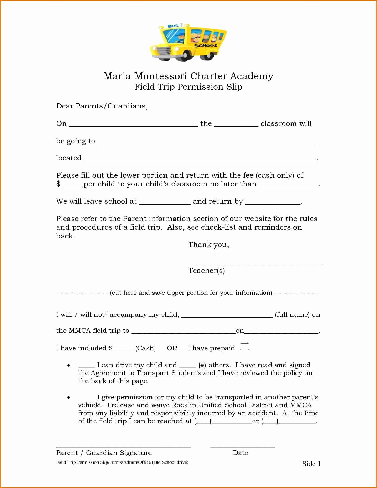 Permission Slips Lds Luxury 9 Permission Slips for Field Trips