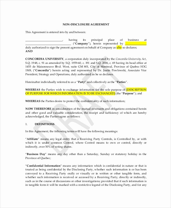Personal assistant Agreement New Celebrity Confidentiality Agreement – 7 Free Word Pdf