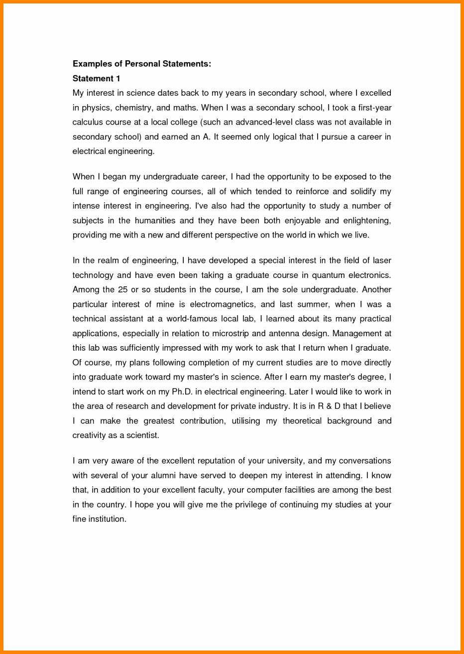 Personal Background Essay Examples Lovely 7 Examples Of Personal Statements