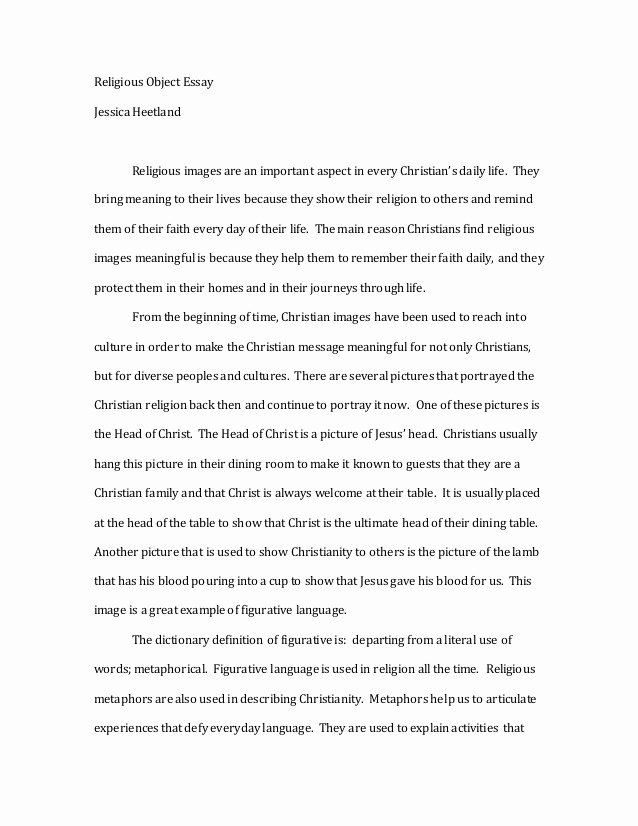 Personal Background Essay Examples New Christianity Essay
