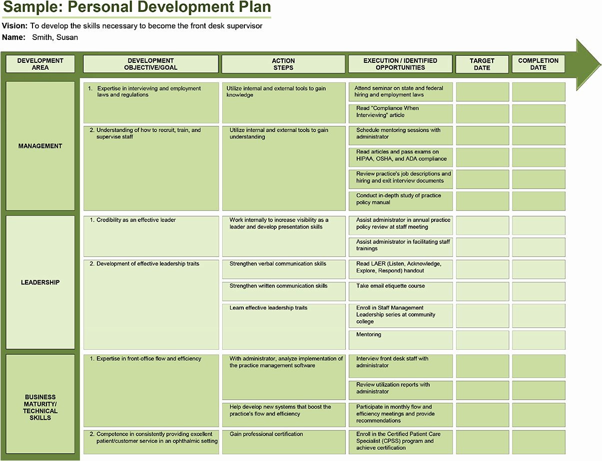 Personal Development Plan Childcare Example Beautiful Ophthalmic Professional Create A Personal Development Plan