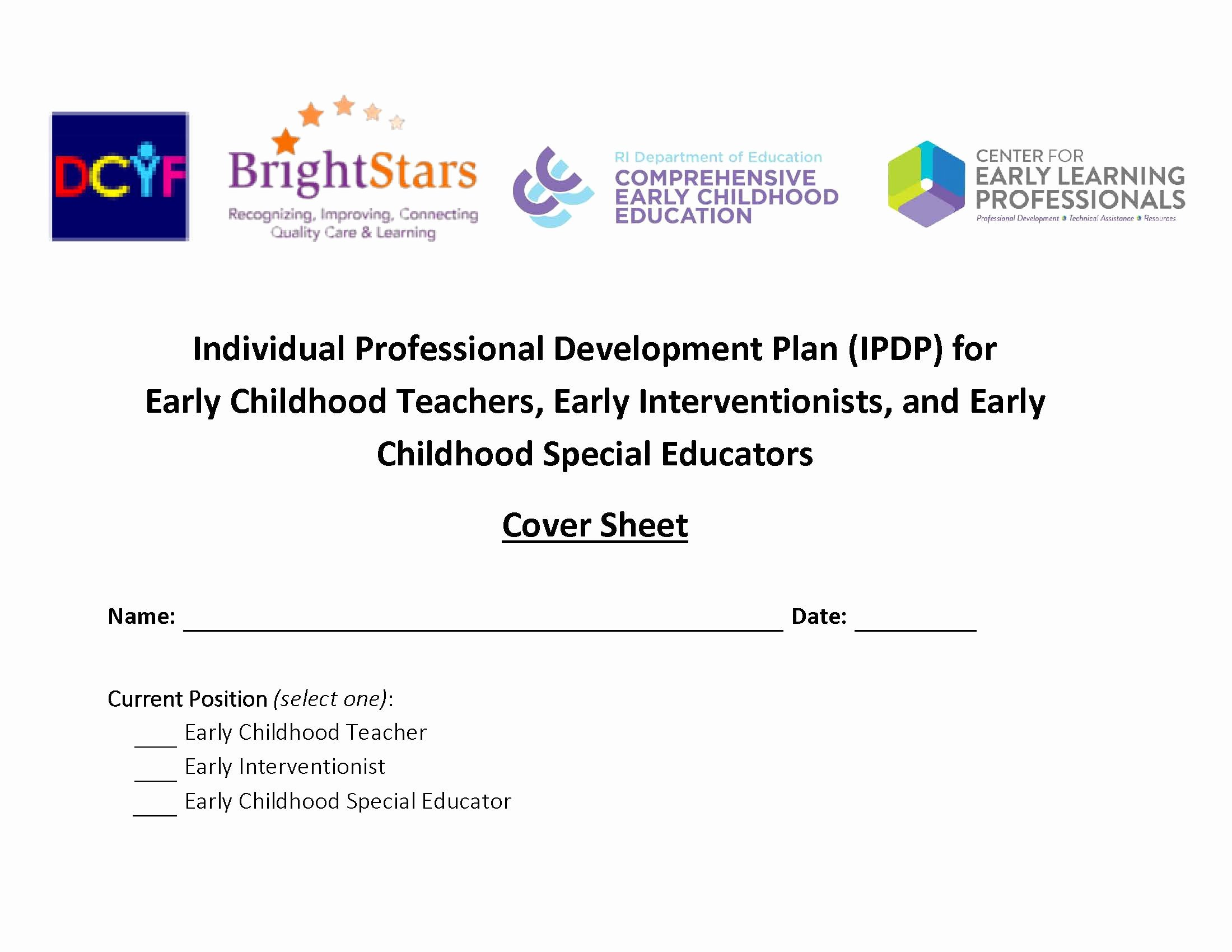 Personal Development Plan Childcare Example Elegant Module 3 Create Your Individual Pd Plan Center for