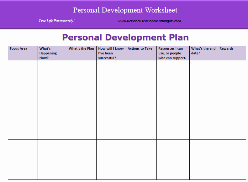 Personal Development Plan Childcare Example New 6 Personal Development Plan Templates Excel Pdf formats