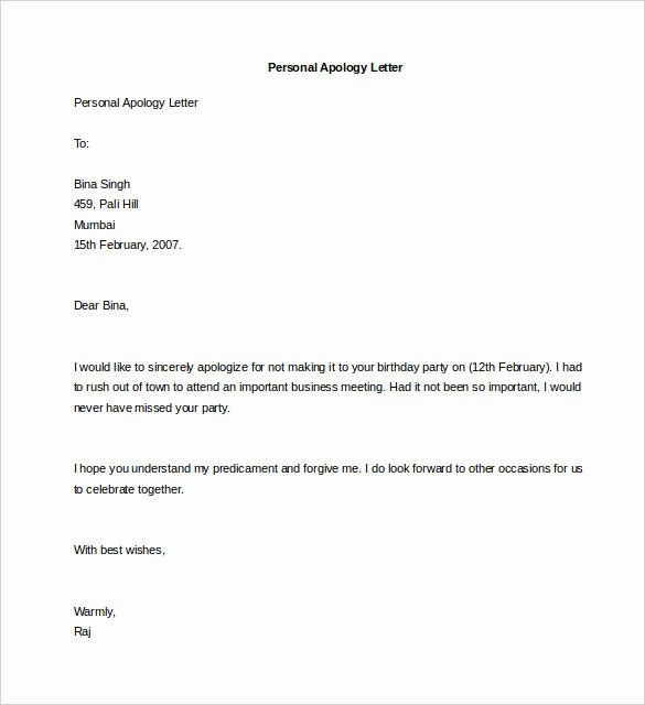 Personal Letter format Template Inspirational 44 Personal Letter Templates Pdf Doc