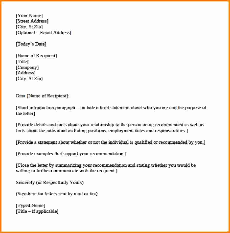 Personal Letter format Template Lovely Personal Letter Template