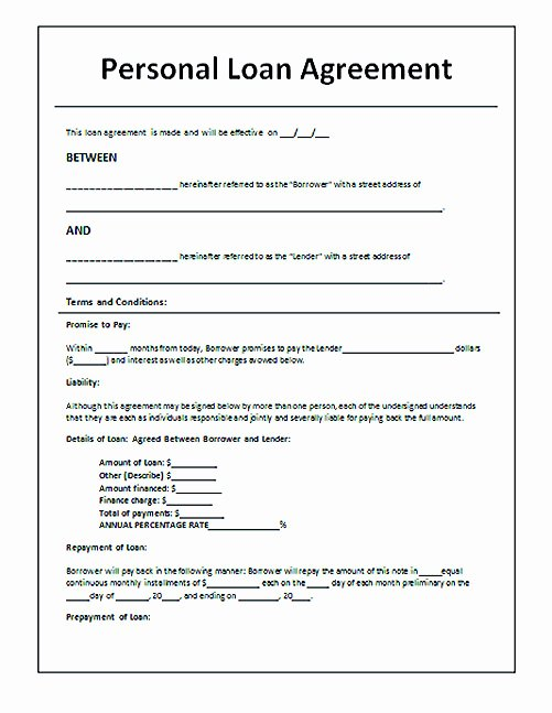 Personal Loan Agreement Template Best Of Download Loan Contract Template with Crucial Details to Note