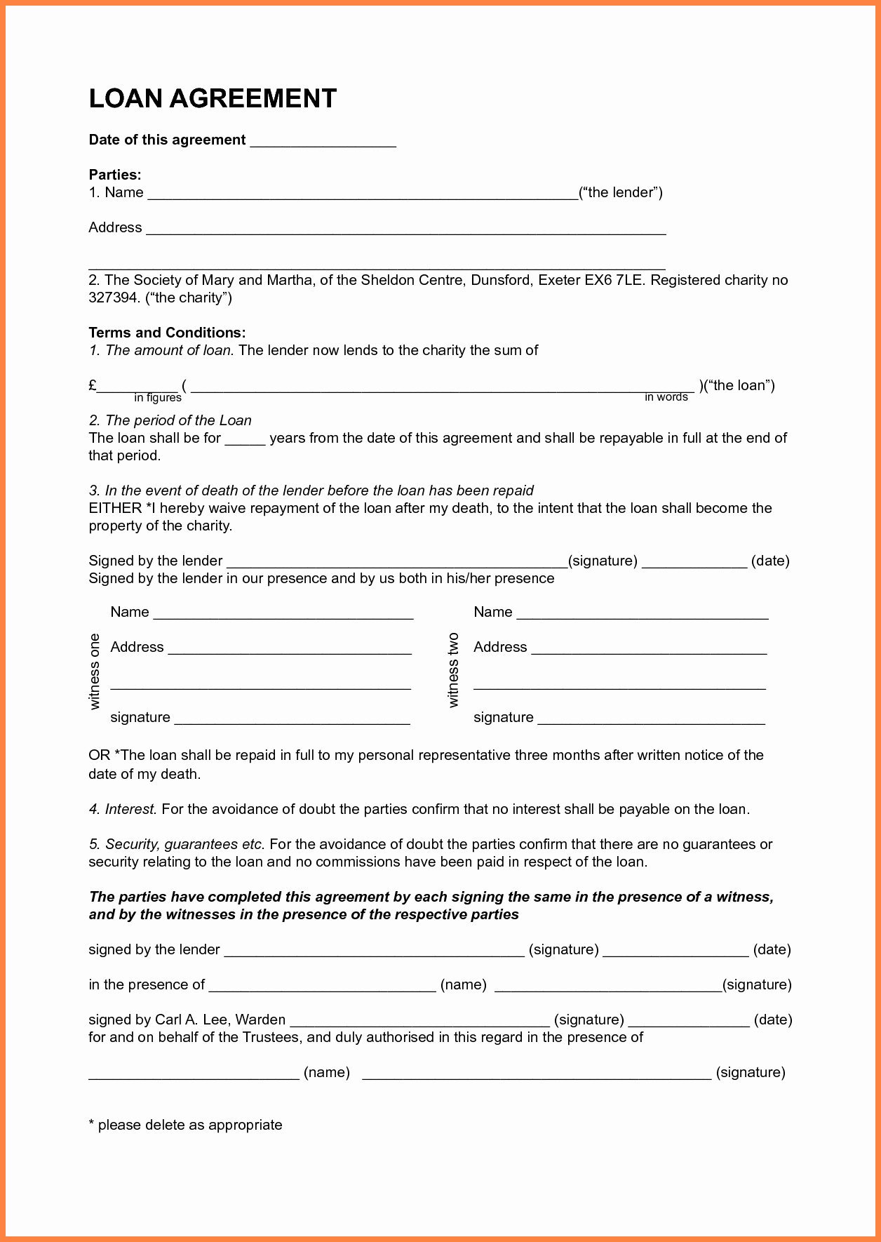 Personal Loan Agreement Template New 7 Template Loan Agreement Between Family Members