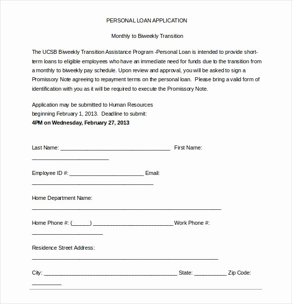 Personal Loan Application form Template Elegant 15 Loan Application Templates – Free Sample Example