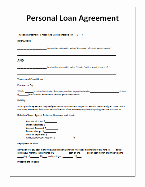Personal Loan Application form Template Elegant 45 Loan Agreement Templates & Samples Write Perfect