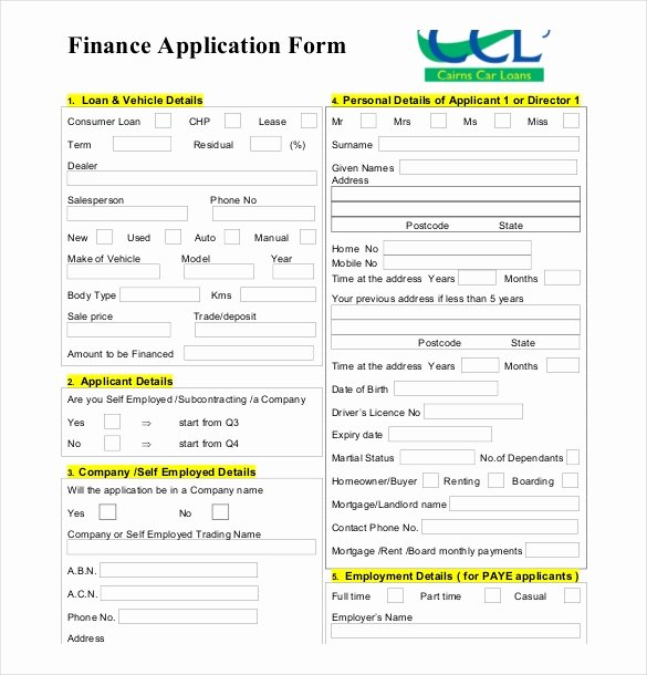 Personal Loan Application form Template New 10 Loan Application Templates Pdf Doc